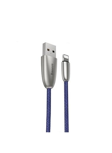 Baseus Torch Lightning Şarj Kablosu Mavi 2M - Calhj-B15 Renkli